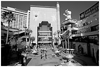 Babylon court of the Hollywood and Highland complex. Hollywood, Los Angeles, California, USA (black and white)