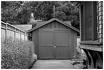 Garage where Hewlett-Packard started. Palo Alto,  California, USA ( black and white)