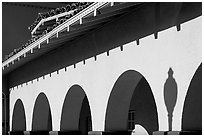 Arches, Burlingame train station. Burlingame,  California, USA (black and white)