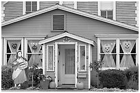 Zabella House, oldest in town. Half Moon Bay, California, USA ( black and white)