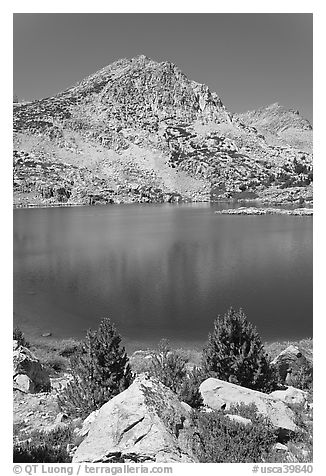 Saddlebag lake, John Muir Wilderness. California, USA (black and white)