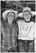Horsewomen, Parchers Camp. California, USA ( black and white)