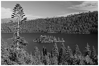 Fannette Island, Emerald Bay, California. USA ( black and white)