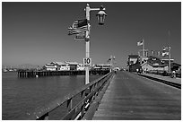 Stearns Wharf. Santa Barbara, California, USA (black and white)