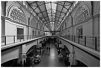 Interior, Ferry Building. San Francisco, California, USA (black and white)