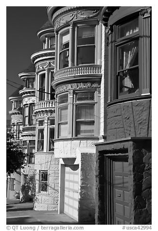 Colorful Victorian houses, Haight-Ashbury District. San Francisco, California, USA