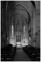 Side chapel, Grace Cathedral. San Francisco, California, USA (black and white)