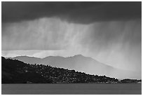 Storm clouds across the San Francisco Bay. California, USA ( black and white)