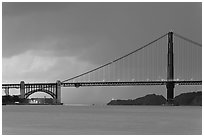 Storm over the Golden Gate Bridge. San Francisco, California, USA (black and white)