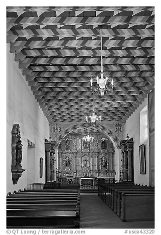 Interior of the Mission Dolores Chapel. San Francisco, California, USA