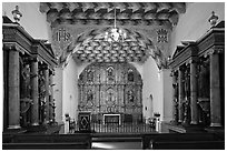 Chapel of Mission San Francisco de Asis. San Francisco, California, USA ( black and white)