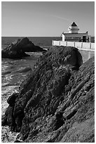 Camera Obscura, Cliff House. San Francisco, California, USA (black and white)