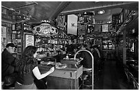 Inside Vesuvio saloon, North Beach. San Francisco, California, USA ( black and white)