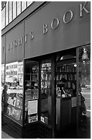 City Light Bookstore, North Beach. San Francisco, California, USA ( black and white)