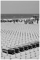 Iraq war memorial on the beach. Santa Monica, Los Angeles, California, USA (black and white)