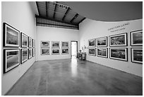 Photographic exhibition in gallery, Bergamot Station. Santa Monica, Los Angeles, California, USA ( black and white)