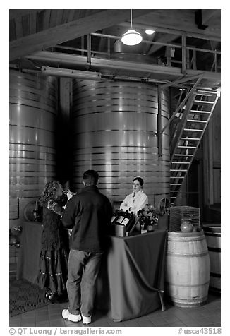 Couple tasting wine. Napa Valley, California, USA