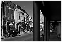 Main Street, Yreka. California, USA ( black and white)