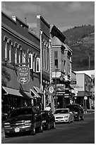 Historic buildings, Yreka. California, USA (black and white)