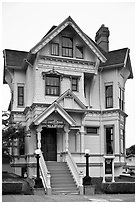 Yellow Victorian house, Eureka. California, USA ( black and white)
