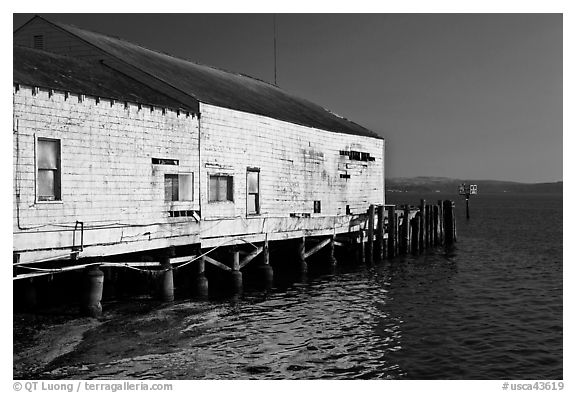 Wharf building, Bodega Bay. Sonoma Coast, California, USA