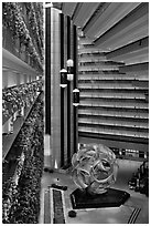 Atrium, Hyatt Grand Regency. San Francisco, California, USA ( black and white)