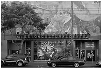 Mission cultural center, Mission District. San Francisco, California, USA ( black and white)