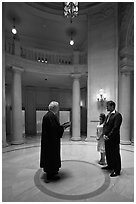 Wedding ceremony, City Hall. San Francisco, California, USA ( black and white)