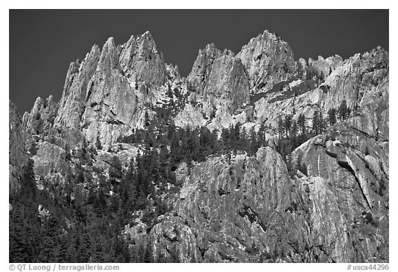 Castle Crags, Castle Crags SP. California, USA (black and white)