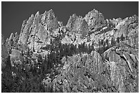 Castle Crags, Castle Crags SP. California, USA ( black and white)