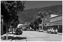 Main street, Dunsmuir. California, USA ( black and white)