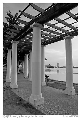 Colonade on Lake Meritt shore. Oakland, California, USA