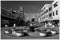 Fountain,. Oakland, California, USA (black and white)