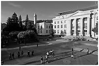 University of California at Berkeley Campus. Berkeley, California, USA (black and white)