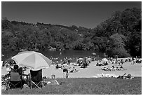 Anza Lake, Tilden Park. Berkeley, California, USA (black and white)