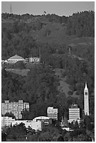 University of California and hills. Berkeley, California, USA ( black and white)