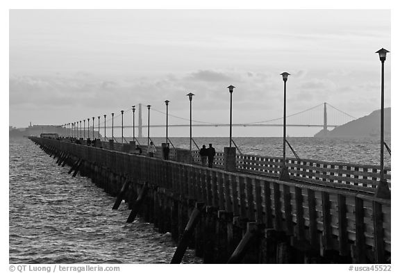 Stroll on Berkeley Pier. Berkeley, California, USA