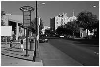 Downtown. Watsonville, California, USA ( black and white)