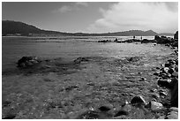 Carmel Bay. Carmel-by-the-Sea, California, USA (black and white)