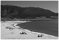 Carmel River Beach and Carmel Bay. Carmel-by-the-Sea, California, USA (black and white)