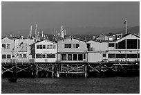 Fishermans wharf pier. Monterey, California, USA (black and white)