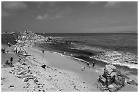 Beach at Lovers Point. Pacific Grove, California, USA (black and white)