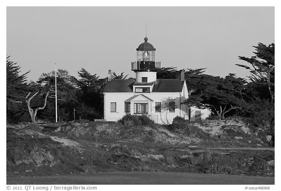Point Pinos Lighthouse, late afternoon. Pacific Grove, California, USA