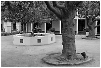 Pacific House courtyard. Monterey, California, USA ( black and white)