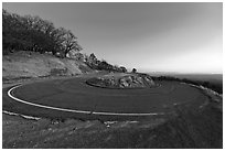 Hairpin curve, Mt Hamilton road. San Jose, California, USA ( black and white)