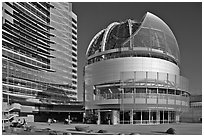 Rotunda, San Jose City Hall. San Jose, California, USA (black and white)