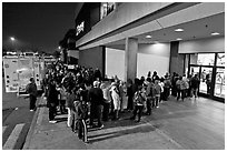 Line outside store on Black Friday. San Jose, California, USA ( black and white)