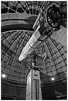 Lick Refractor (third-largest refracting telescope in the world). San Jose, California, USA (black and white)
