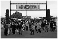Entrance, San Jose Flee Market. San Jose, California, USA ( black and white)