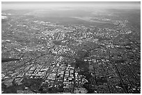 Aerial View of San Jose and South Bay. San Jose, California, USA ( black and white)